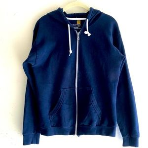 Gold Toe Navy Zip Up Hoodie
